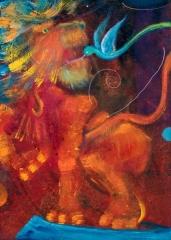 tela beija-flor domador